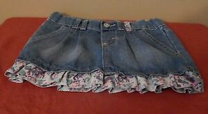 Wrangler Jean Skirt with ruffle & adjustable waist size 2T