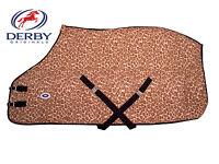 Derby Originals Leopard Print Fleece Sheet For Horses Or Used As Blanket Liner