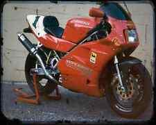 Ducati 888 Sp5 94 3 A4 Photo Print Motorbike Vintage Aged