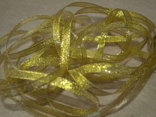 Sparkly Ribbon Gold Silver Craft Christmas Gift Tying Craft Ribbons Bow