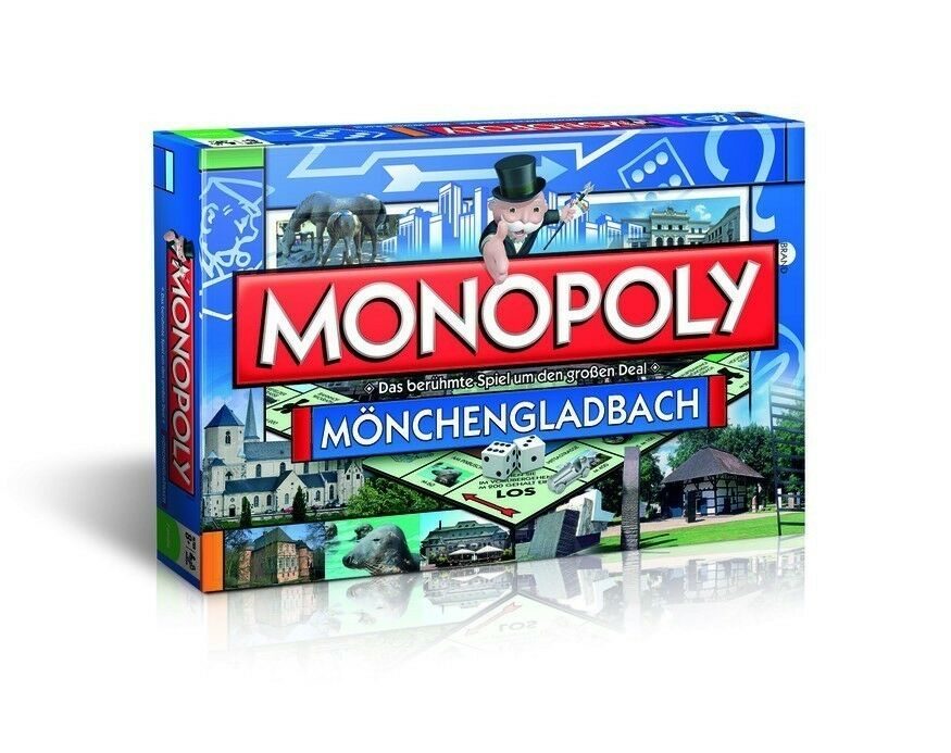 Original Monopoly Mönchengladbach City Édition Ville, Jeu de Société Jeu Neuf