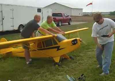 1//4 scale piper super cachoro bear 274cm wing giant rc airplane Digital plans