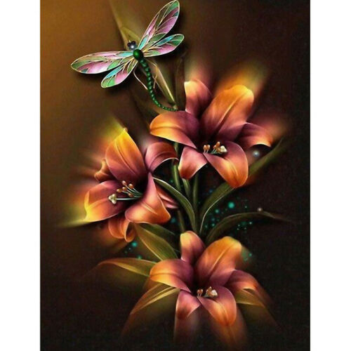 Full Drill Flower DIY 5D Diamond Painting Cross Stitch Embroidery Xmas Gifts