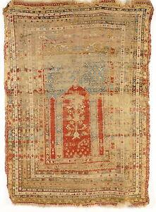 Antik und selten Türkischer Anatolischer Kula Gebetsteppich von ca. 1800