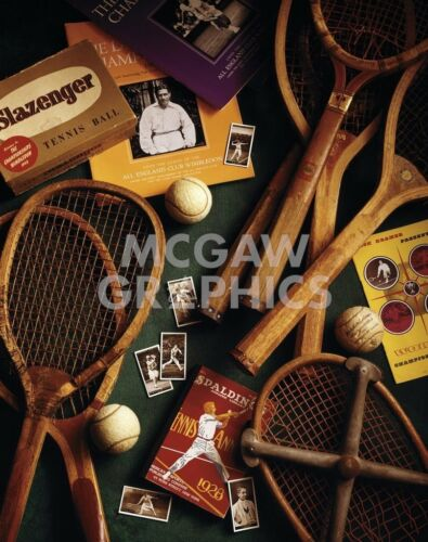 Tennis by Michael Harrison Art Print Poster Vintage Racquet Ball 11x14