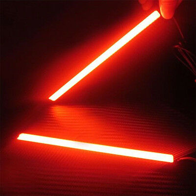 Super Bright Red Car COB LED Lights -DRL Fog Driving Lamp Waterproof  2PCS New