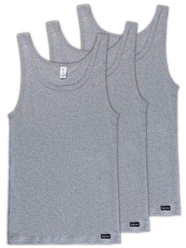 Uomo 3er Pack sotto camicia di cito 310//1//2-670-c tg 5-8 M-XXL in Grigio-Nero-Bianco