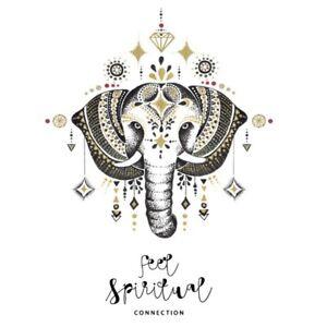 Mandala-Elefant-Wandaufkleber-Indisch-Yoga-Vinyl-Sticker-Aufkleber-Sehr-cRUWK