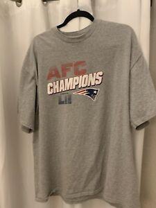 Mens-Used-New-England-Patriots-Reebok-Equipment-Grey-t-shirt-Size-2XL