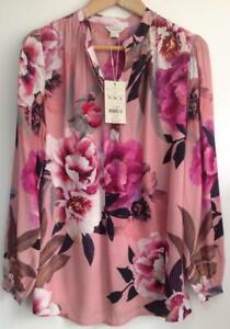 MONSOON-LYDIA-HYDRANGEA-PRINT-SHIRT-Brand-New-With-Tag-Pink-Mix-Size-10