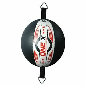 New-Gym-Training-Leather-Double-End-Dodge-Speed-Ball-Boxing-Punch-Bag-Red-Black