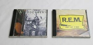 Lot-of-2-R-E-M-Music-CDs-Alternative-Document-amp-Out-of-Time-PRE-OWN-amp-TESTED