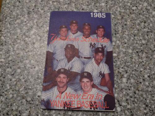 1985 New York Yankees Baseball Pocket Schedule Yankees