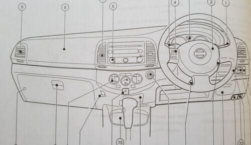 Genuine Nissan Micra K12 Handbook Manual Wallet 2005-2009 Pack L-759