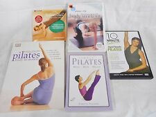 PILATES 4 DVDs 10 and 20 minute Exercises Balance Ball Body in Motion + 1 Book