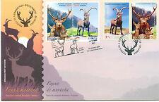 2012 Romania Spania JOINT ISSUE ! Mountain Fauna,Deer,Goat nice & rare FDC!