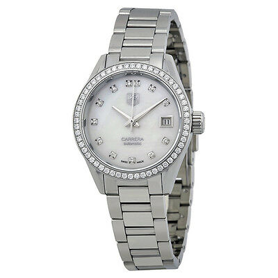 Tag Heuer Carrera Automatic Mother of Pearl Ladies Watch THWAR2415BA0770