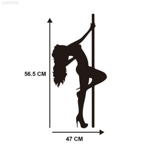 5332 Wandtattoos Pole Dance Wallpaper PVC Schwarz Hintergrund Geschenk Für DIY