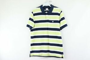 Brooks-Brothers-Mens-Large-Slim-Fit-Striped-Performance-Polo-Golf-Shirt-Cotton