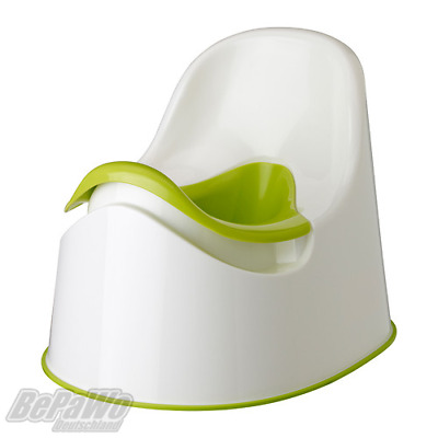 IKEA LOCKIG Töpfchen in weiß//grün Toilettentrainer Kindersitz
