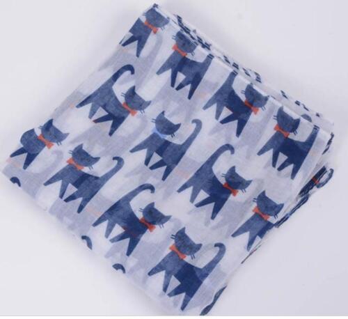 Cat Design Print Scarf Pet Gift Ladies Shawl
