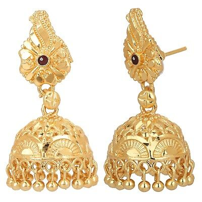 Indian Gold Plated Earrings Jewelry Women Traditional Wedding