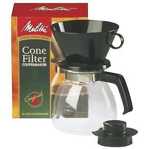 Melitta Manual 10 Cup Cone Filter Coffee Maker