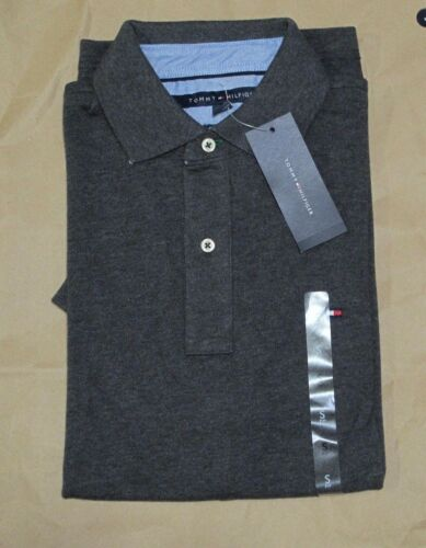 NWT Tommy Hilfiger Men Logo Short Sleeve Classic Fit Soft Solid Polo Shirt