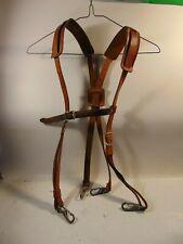 Arborist Lineman Leather Suspenders For Waist Tool Belt Support