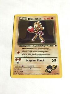 Rocket-s-Hitmonchan-Team-Rocket-11-132-HOLO-HP-Pokemon-Card-Free-Shipping-A