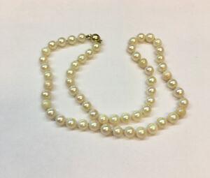 Akoya-Perlen-Collier-Kette-Perlencollier-585-er-Goldverschluss-Perlenkette