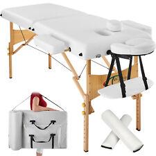 Lettino Massaggi Estetista Massaggio Portatile 7,5cm PVC Pieghevole Bianco