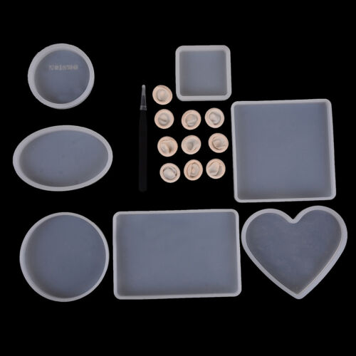 18pcs//set epoxy resin molds for diy coasters silicone jewelry making molds CO