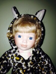 image is loading cracker barrel halloween series porcelain doll leopard suit