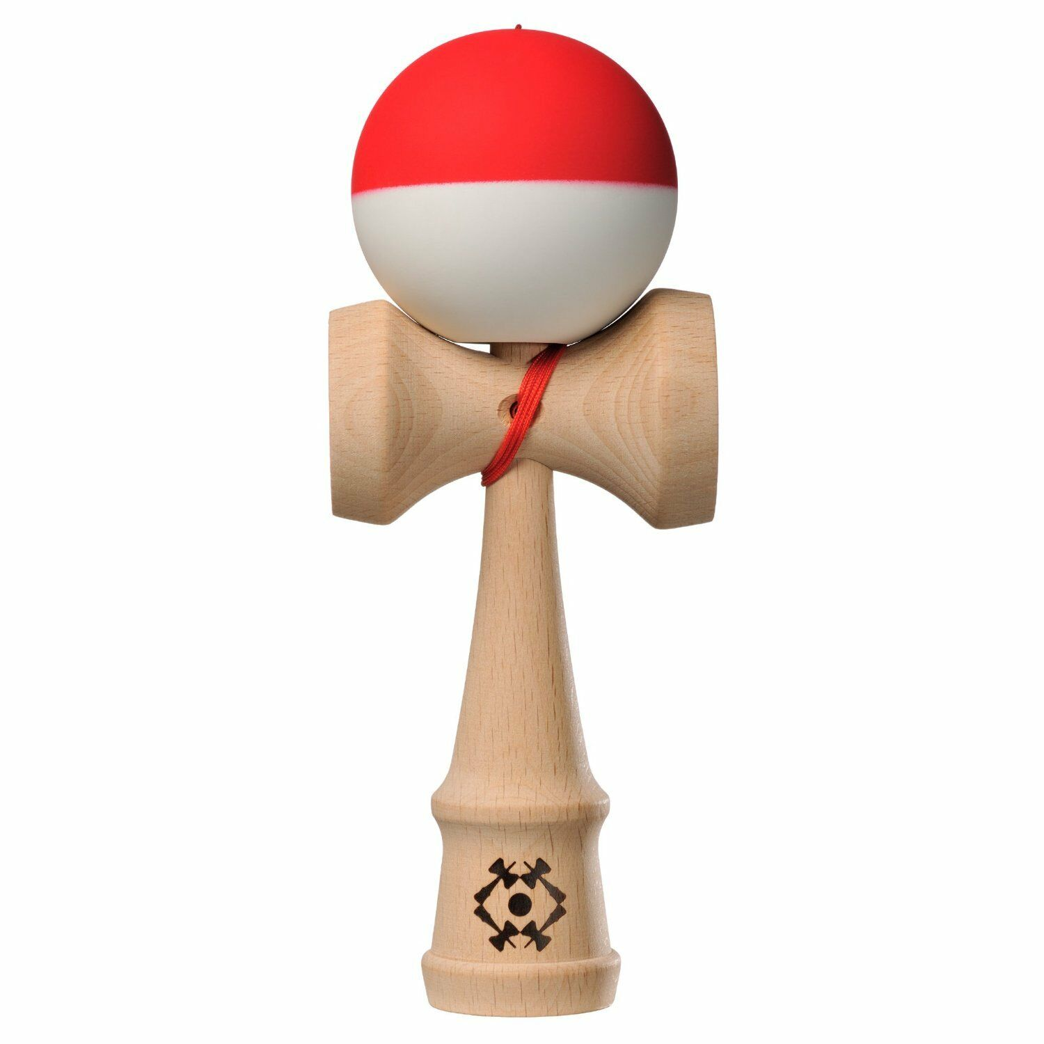 Kendama USA Half Half Half Split - Red and White - Silk Matte - TRB136 9e3153