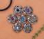 10X-Bohemian-3D-Flower-Turquoise-Conchos-For-Leather-Craft-Keychian-Wallet-Decor miniatuur 1