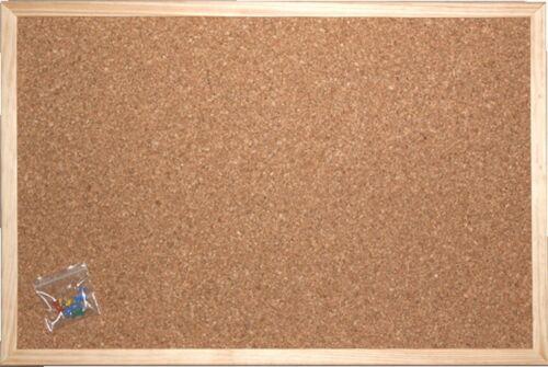 Pinnwand MIT STABILER MDF-RÜCKWAND Pinwand Kork Memoboard 60 x 80 cm NEU