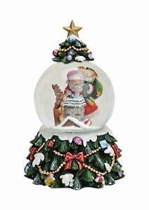 Spieluhr Weihnachten.Details Zu Große Schneekugel Spieluhr Weihnachten Deko Nikolaus Mit Wirbel