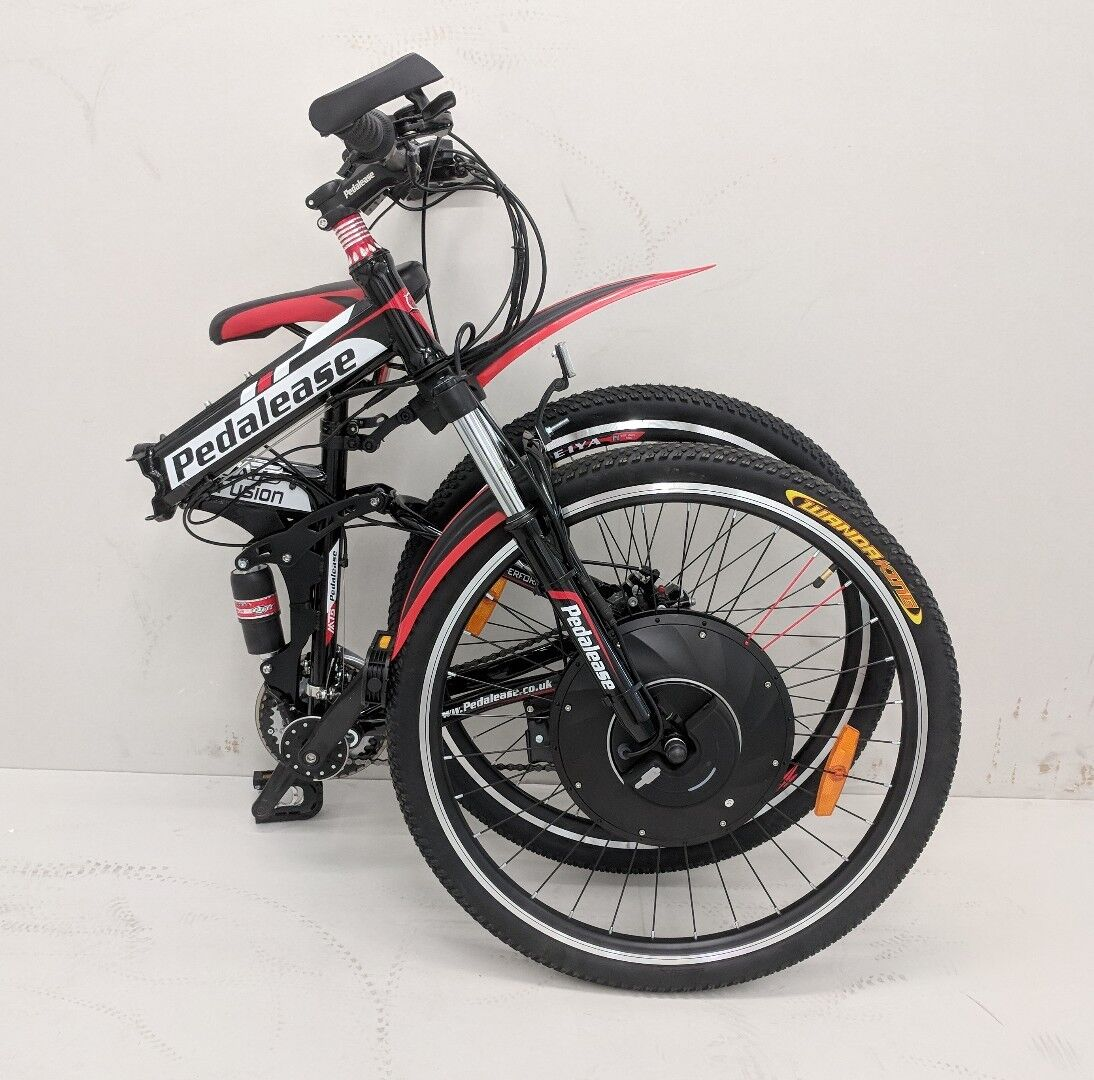 Pedalease electric folding bike 36v 250w integrated motor battery ICU in wheel