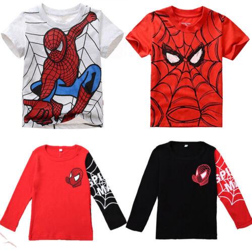 Kids Boys Spiderman Hoodie Jacket Coat Sweatshirt Jumper T Shirt Top Clothes UK