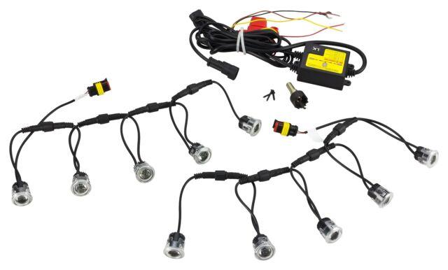 LED Tagfahrlicht Flex 10 x SMD 12V Zugelassen