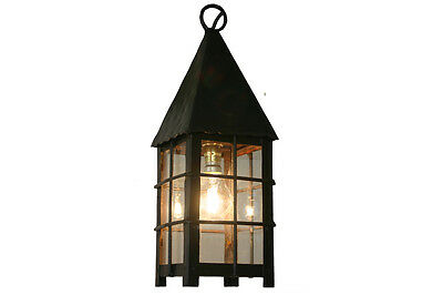 Antique Furniture Small Reclaimed Late 20th Century Steel And Glass Lantern