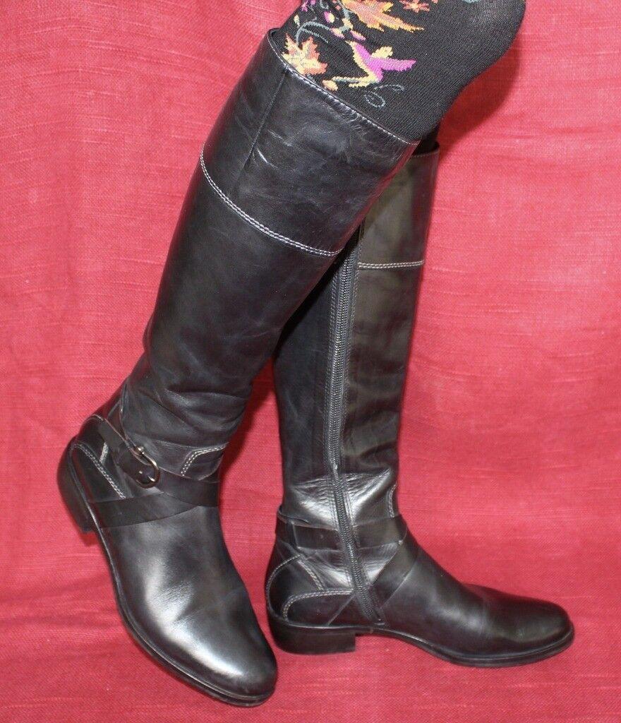 Geox Echt Leder botas tamaño 38 Leather botas uk5 cuero cuero cuero Zapatos señora 67299a