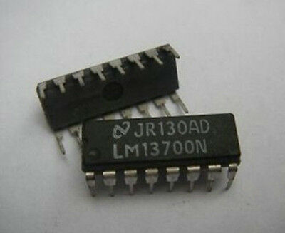 4PCS, LM13700 LM13700N Dual OP Amplifier IC'S IC Chip new