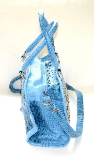 ohrstecker Crossbody Aus Geldbrse Croc kristall New Tasche Silber Blauer ds kunstleder qxwUAB
