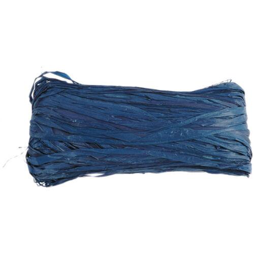 Dekoband raffia velours 4 mm 50 G Bleu raffiaband coloré Fixation geschenkband