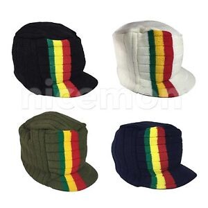 Reggae Beanie Smaller Knit Cap Hat Kufi Rasta Surfer Hawaii Jamaica ... 257f6c62fb63