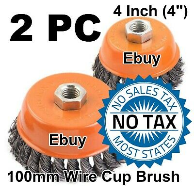 "75mm Angle Grinder Twist Knot 20 Wire Cup Brush Wheel 3/"" 115mm for 4-1//2/"""