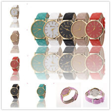Fashion Womens Ladies Watches Geneva Faux Leather Analog Quartz Wrist Watch