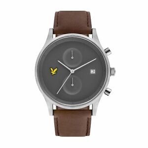 Armband- & Taschenuhren Lyle & Scott Ls-6007-03 Men Es The Hope Brown Leder Wristwatch Mit Dem Besten Service